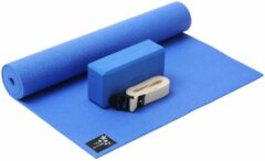 Blauwe Yoga-Set Kick-It (Yoga mat + yoga blok + yoga belt) ocean blue Fitnessmat YOGISTAR
