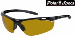 Zwarte Polar Specs® High Definition Contrast Velocity Sport PS9041 – Black Frame – Polarized HD Daytime – Medium – Unisex