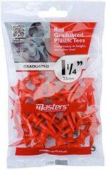 "Rode Masters Graduated Tees 1 1/4"" Red 35 stuks"