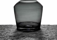Maison Péderrey Vaas Mond geblazen glas-Glas Zwart D 25 cm H 23 cm