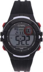 Olympic OL45HKR009 Horloge HIKING digitaal zwart-rood 42 mm