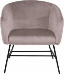 Lisomme fauteuil Lissy - Fluweel - Roze