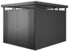 Grijze Biohort Highline H5 donkergrijs metallic 2 deurs - 275 x 315 x 222 cm