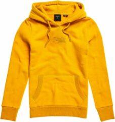 Gouden Superdry Geborduurde Vintage Logo Tonal hoodie