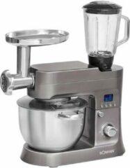 Grijze Bomann KM 1395 CB - Keukenmachine - Titanium