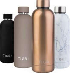 Roze TIGR Thermosfles in Roestvrij Staal RVS - Drinkfles - 500ML - Rosé goud