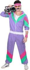 Widmann Jaren 80 & 90 Kostuum | Fout Paars Trainingspak Mister Wrong | Man | XL | Carnaval kostuum | Verkleedkleding