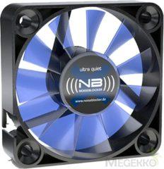 NoiseBlocker BlackSilent XM-2 PC-ventilator Zwart, Blauw (transparant) (b x h x d) 40 x 40 x 10 mm
