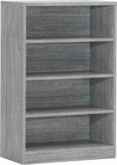 Rousseau - Boekenkast Spacio 72cm met 3 legplanken - Grijs - Spaanplaat - 72cm Breed