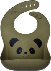 Mr & Mrs Tiny siliconen slabbetje voor baby's olijfgroen