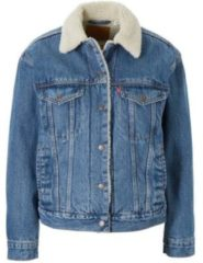 Blauwe Levi's Women's Ex-Boyfriend Sherpa Trucker Jacket - Addicted to Love - XS - Blue