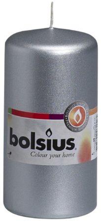 Afbeelding van Bolsius International Bolsius Stompkaars Stompkaars 120/60 Zilver