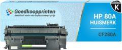 Goedkoopprinten Huismerk voor HP 80A toner / HP CF280A toner Zwart (2.700 afdrukken)