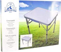 Grijze Merkloos / Sans marque Inklapbare camping tafel - 60 x 45 cm - Verstelbare hoogte - Tafel voor op de camping / vouwtafel