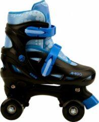 AMIGO Gogo rolschaatsen - Voor jongens en meisjes - Zwart/Lichtblauw - Maat 30-33