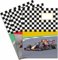 Rode De Kaartenmakers Schriften met Formule 1 raceauto's - 3 stuks A5 Gelijnd