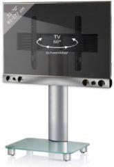 TV-Standfuß + Soundbar 'SBM700' | TV-Wandhalterung incl. Soundbarhalterung VCM silber/aluminium