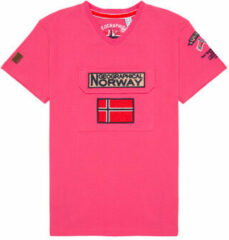 Roze T-shirt Korte Mouw Geographical Norway JIRI