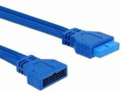 DeLOCK 82943 USB pinheaderkabel 19pins 0,5m blauw