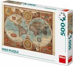Dino Toys Dino Puzzel Wereldkaart 1626 500 stukjes