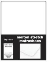 Day Dream - Stretch - Molton - Hoeslaken - Lits-jumeaux - 180x200 cm - Wit