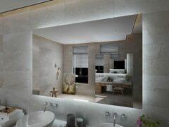 Viidako LED Rechthoekige Badkamerspiegel - Anti Condens - 3 LED Verlichting Standen - Krasbestendig