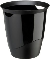 Plastic papiermand Durable Trend 16 L zwart