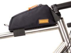 Zwarte Restrap frametas voor bovenbuis - Bovenbuistassen