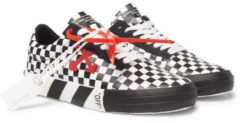 Off-White Vulc Suede-trimmed Coated-canvas Sneakers - Black