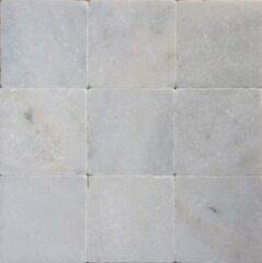 Jabo mozaiektegel wit marmer anticato 10x10x1