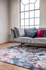 Rode Floor Flores Blauw 160x230
