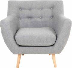 Hioshop Monte fauteuil grijs.