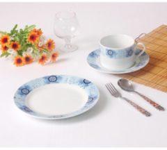 Kaffee- und Teegeschirr 18-tlg. Blaue Blume HTI-Living Blau
