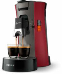 Philips Senseo Select CSA240/90 - Koffiepadapparaat - Dieprood en kasjmiergrijs