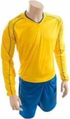 Precision Voetbalshirt- En Broek Marseille Junior Geel/blauw Mt 30-32