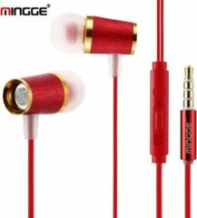 M21 High Bass In-Ear Oordopjes met 3.5mm Jack Oortjes voor Apple iPhone / Samsung Galaxy / Huawei - rood