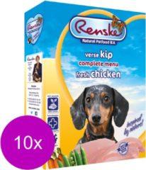 Renske Vers Vlees - Hondenvoer - Kip - 10 Kuipjes x 395 g