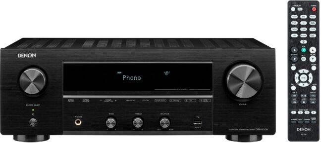 Afbeelding van Denon DRA-800H - Stereoreceiver met 100W per kanaal, HEOS Built-in, Airplay 2 en Bluetooth - Zwart