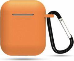RM Commerce Airpod Siliconen Hoesje Casez - Oranje - Geschikt voor Apple Airpods - airpod case - oordopjes hoesje - beschermhoesje airpods - draadloze oordopjes bescherming - draadloze koptelefoon hoesje - Draadloze oordopjes - Draadloze oortjes
