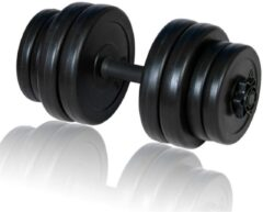 Zwarte VidaXL Dumbbell halters 15 kg met kunstof handgreep