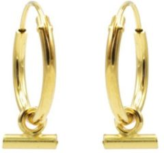 Karma Jewelry Karma Oorringen Hoops Horizontal Tube Goud