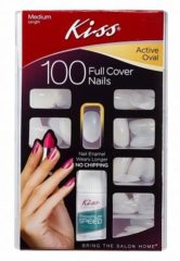 Kiss Full Cover Nails Oval (1set)
