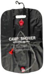 Zwarte MikaMax Solar Camping Douche - Draagbare Douche - Douchezak - Buiten Douche - Portable Shower