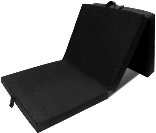 Afbeelding van Zwarte VidaXL Schuimmatras opklapbaar zwart 190x70x9 cm