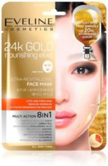 Eveline Cosmetics 24k Gold Ultra Revitalizing Face Sheet Mask Multi Action 8 in 1
