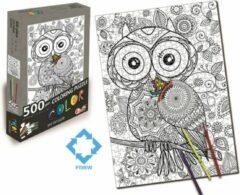 FDBW Puzzel Kleuren | Legpuzzel 500 stukjes | Puzzel Kleurplaat | Puzzel Kleuren Volwassenen | Kinderpuzzel Kleuren | Kleurpuzzels voor Volwassenen – Kinderen | Henny Hoot