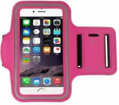 Pearlycase IPhone 8 Plus hoes Sport armband Hardloopband Hoesje Roze