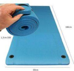 Focus Fitness - Dikke fitnessmat - 180 x 60 cm x 1,5 cm - Blauw