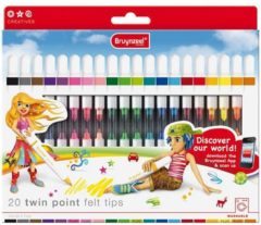 Royal Talens Inspiring Young set 20 dubbelpunt stiften (2 x 20 kleuren) Twin Points viltstiften