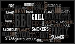 MD-Entree Bbq mat bbq party 67 x 120 cm